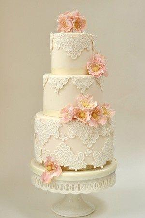 Fondant Wedding Cakes ♥ Vintage Wedding Cake | Katli ve Suslu Dugun Pastasi