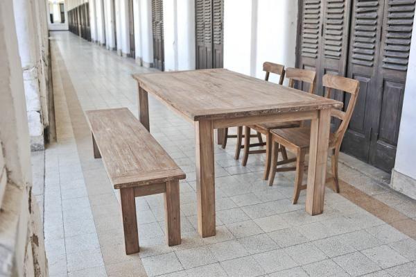 Teak tafel oud hout