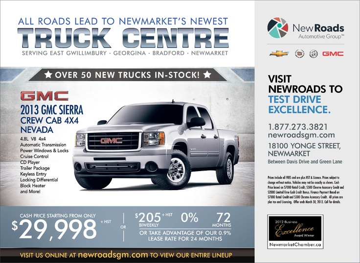 At NewRoads Chevrolet Cadillac Buick GMC dealership, it's about striving to deliver a superior car buying and ownership experience to each and every customer. Whether you're looking to purchase a new or used model or service your current Chevy, Cadillac, Buick, GMC, we're here to help you every step of the way!