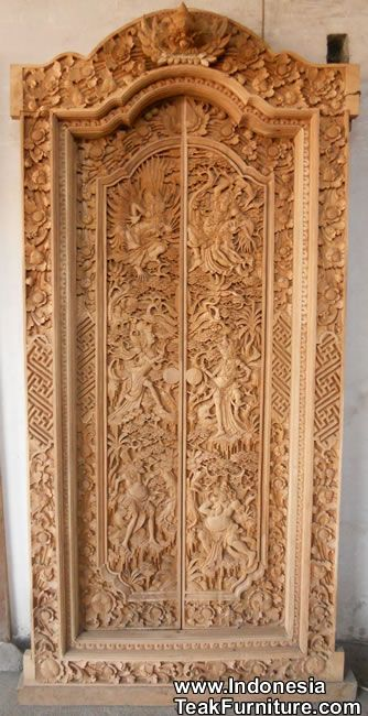 Bali doors - raw. These are often painted in elaborate fashion