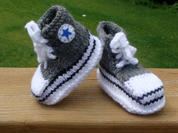 converse slippers by AmisKnittShop on Etsy