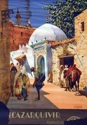 Alcazarquivir, cartel de la campaña de turismo sobre obra de Bertuchi