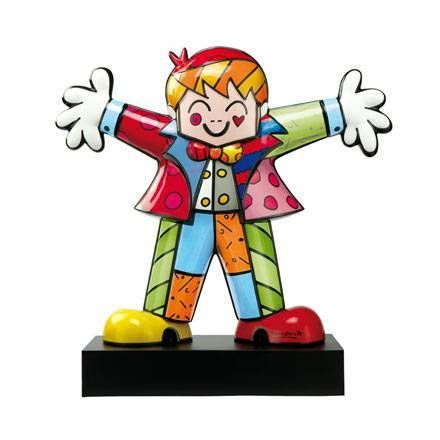 """Hug Too"" Porcelain Figure by Pop Artist Romero Britto ~ Goebel"