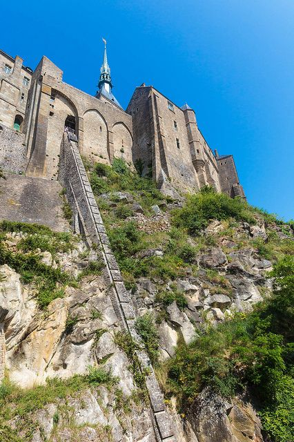 The Hill of Mont St-Michel, Normandy, France