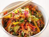 Lighter Chicken Parmesan, Lighter Asian Noodle Salad, Taco Skillet, Lighter Fried Pork Chops