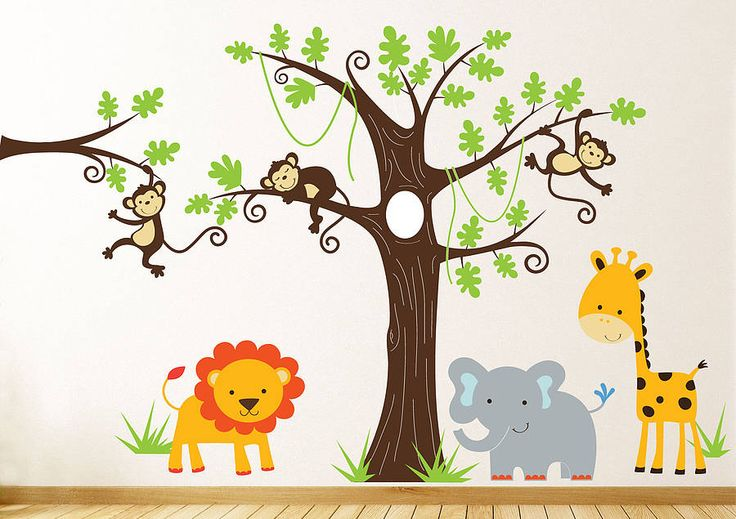 childrens jungle wall sticker set by parkins interiors | notonthehighstreet.com