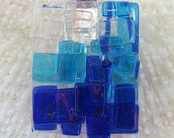 Purple dichroic fused glass Mosaic Pendant by FoxWorksStudio