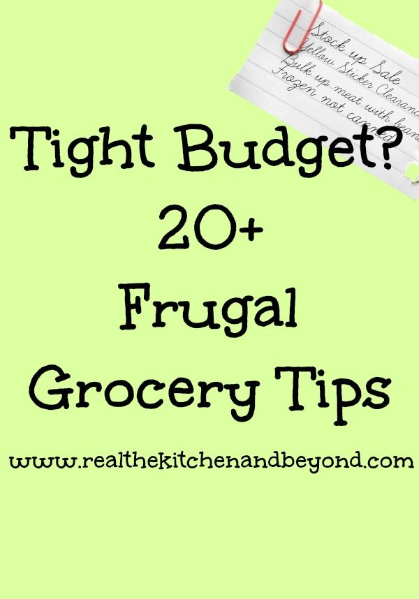 Frugal Meals, Frugal Food Tips | Real: The Kitchen and Beyond