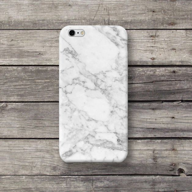 White Marble Granite iPhone 4 5 5S 5C 6 Plus case - michaelcase - Etui na telefon