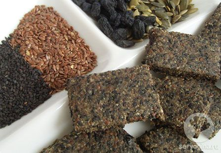 Батончики с тыквенными семечками и кунжутом - полезные и вкусные, сыроедение