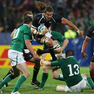 USA vs. Ireland: Rugby Wold Cup...I Got a picture with him and had my arm around him NBD :) haha
