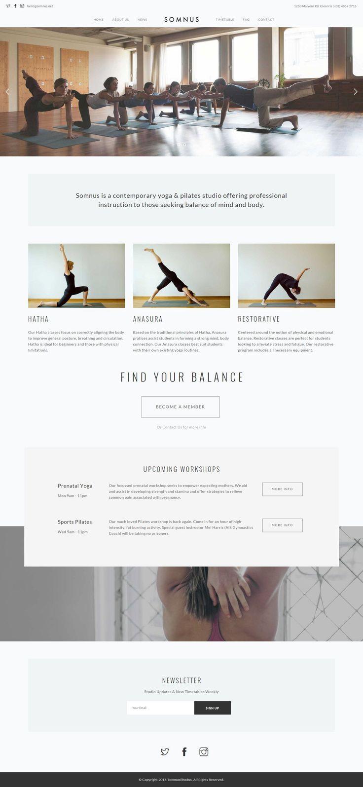 18 best yoga images on Pinterest   Website designs, Design websites ...