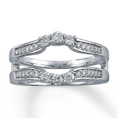 Allurez 14kt White Gold Diamond Eternity Ring Wedding Band - UK G 1/4 - US 3 1/2 - EU 45 3/4 3OSgw