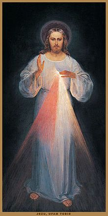 This is the only painting of Divine Mercy St.Faustina Kowalska ever saw, after she saw it she burst into tears because it could not catch the Real Beauty and Glory of the Jesus she saw in her vision.- Wikipedia, the free encyclopedia