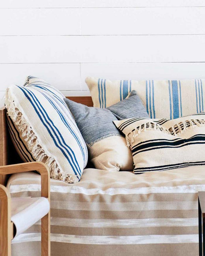 13 Chic IKEA Hacks for Your First Apartment via @MyDomaine // Pillows made out of #4 IKEA rugs