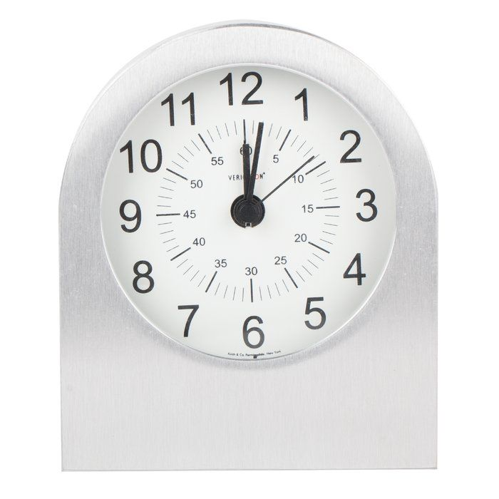 Verichron Aircraft Grade Aluminum Alarm Tabletop Clock With