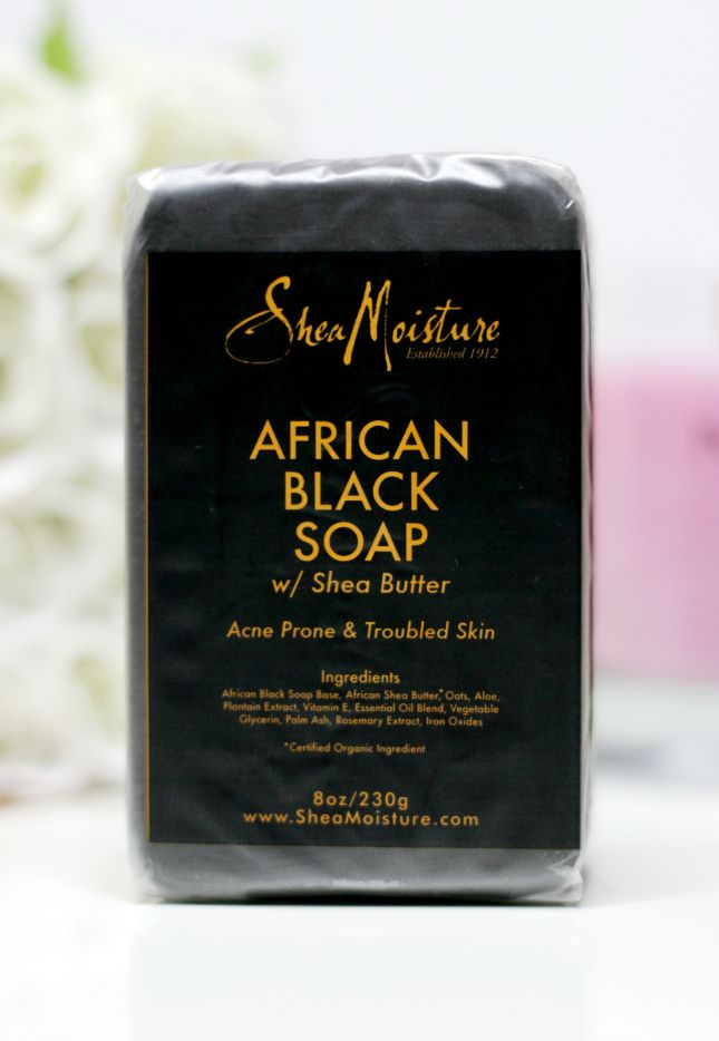 Shea Moisture African Black Soap. I love this soap. It is very moisturizing. It leaves my skin so soft.