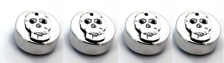 All Sales Interior Dash Knobs (set of 3 & 4wd knob)- Skull Polished