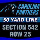 Ticket  Carolina Panthers vs Arizona Cardinals Tickets (50 YARD LINE) 10/30/16 Charlotte #deals_us