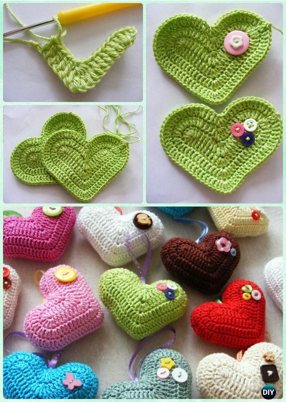 Crochet 3D Heart Free Pattern- Crochet Heart Free Patterns