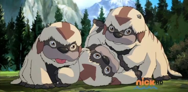 Baby Sky Bison.   best part is when they were flying for the first time !! Legend of Korra