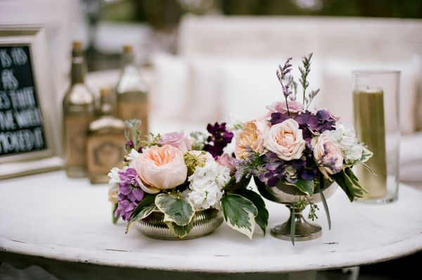 Purple Gold Fall Wedding At CJs Off The Square Pink