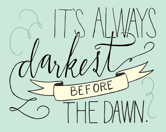 """""""Siempre está más oscuro antes del amanecer"""" - Shake It Out lyrics by Florence and the Machine 
