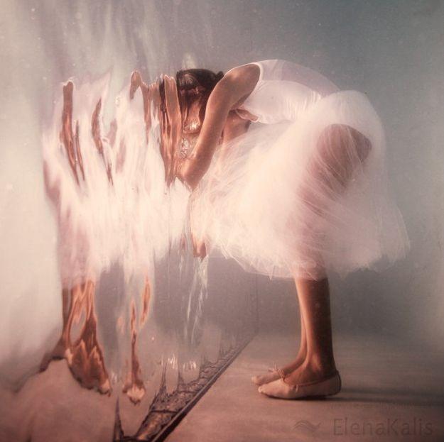 "Elena Kalis, Whimsical Underwater Photography, ""Alice in Wonderland"""