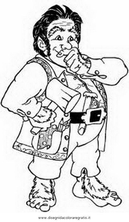 This is an image of Gorgeous Hobbit Coloring Pages
