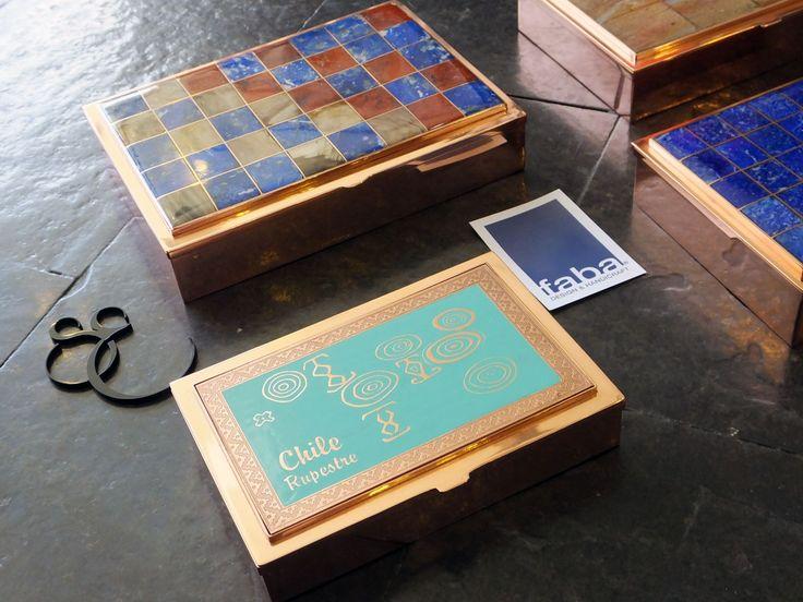 FABA: Cajas de cobre para escritorio, con detalles en piedra… #SantiagoElegante_Faba #SantiagoElegante #Joyas  #Artesania  #AlonsodeCordova