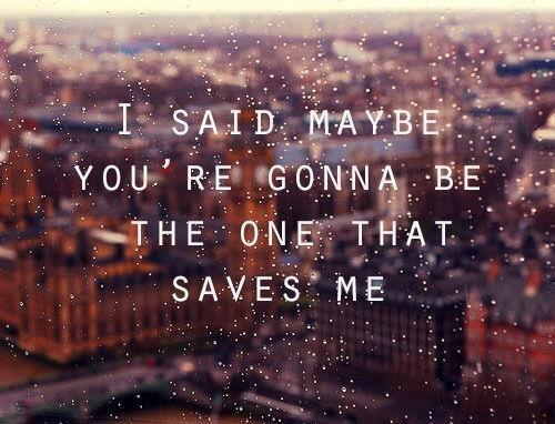 you're my wonderwall.