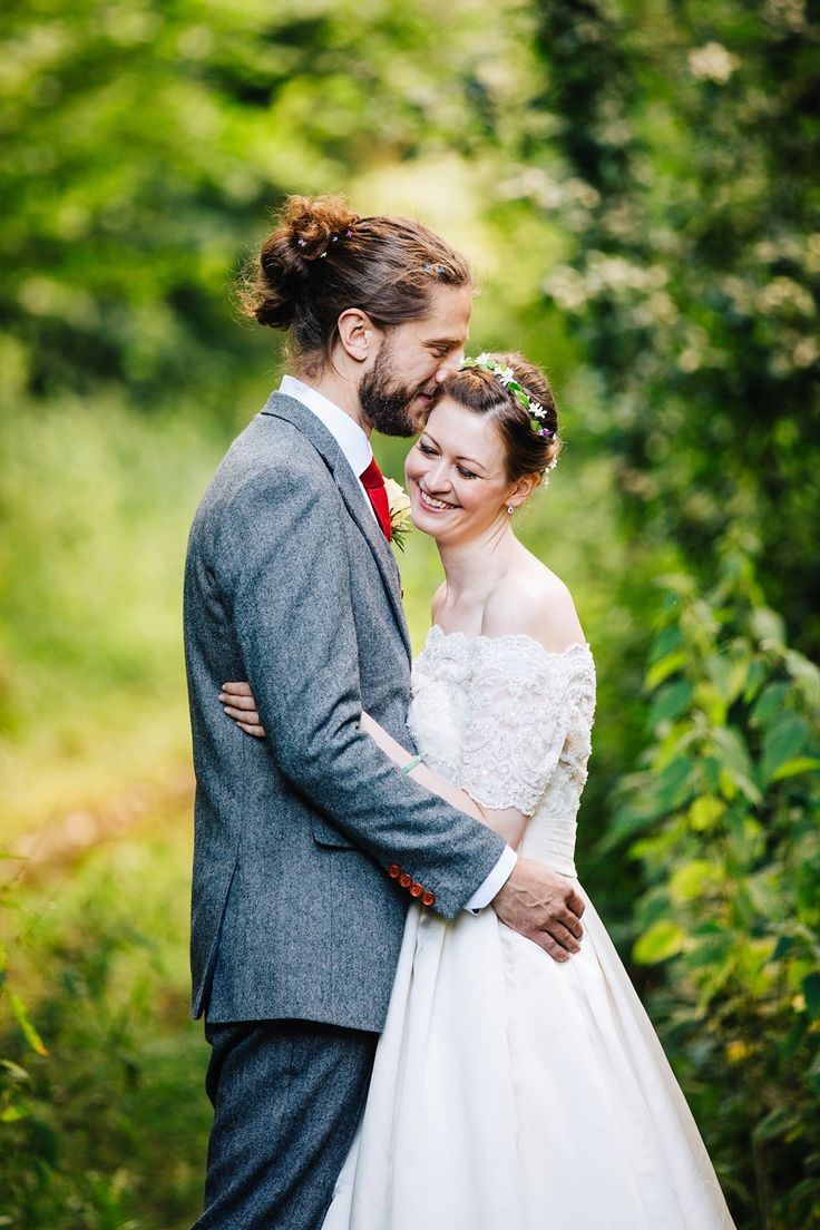 Bride and Groom from an elegant and relaxed homespun barn wedding in the Sussex Downs | Photography by http://www.sarahleggephotography.co.uk/
