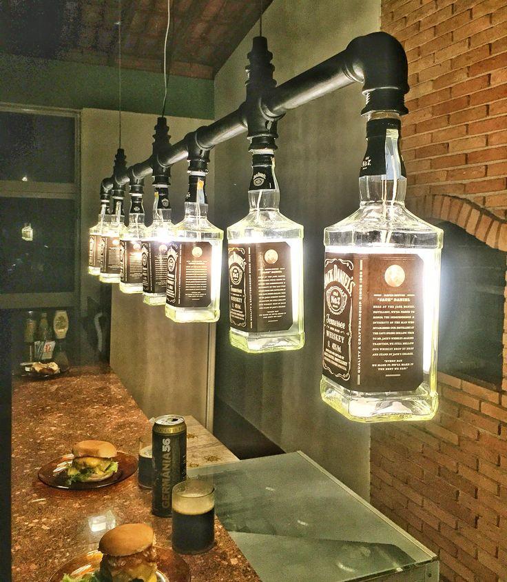 Lustre Industrial de garrafas Jack Daniel's Mais More