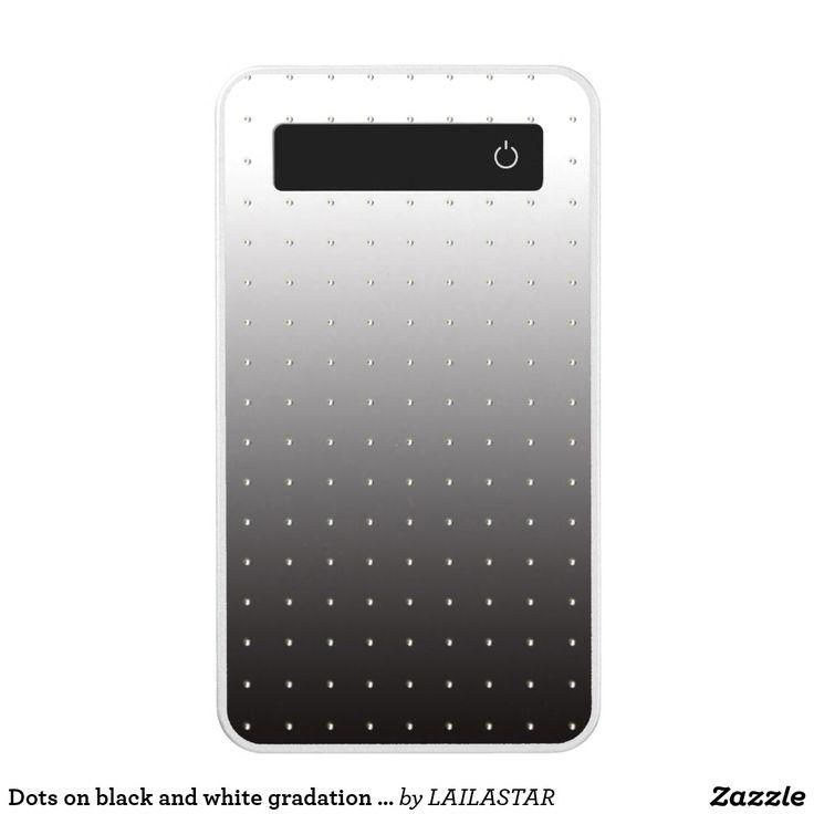 Batería Portátil Puntos en fondo blanco y negro de la gradación