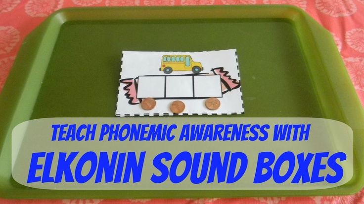 Free printable phonics activity: Elkonin Boxes