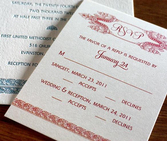 South Asian Wedding Invitations 97