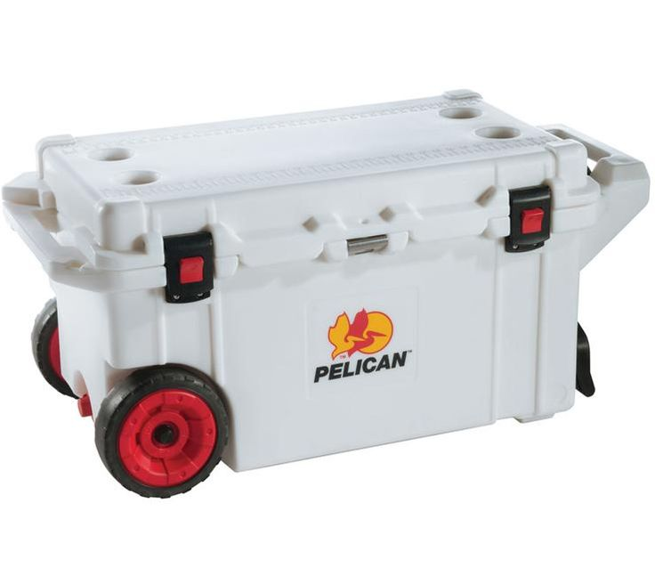 Pelican Progear Elite 80 Quart Wheeled Chest Cooler Item 1412110 Polyurethane Insulation Camping Gear Stainless Steel Plate
