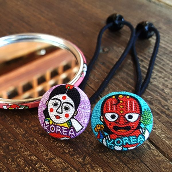 ::Korea Souvenir:: Talbagaji Hair ties (Hahoetal / Bongsantal) 탈바가지 머리끈 세트