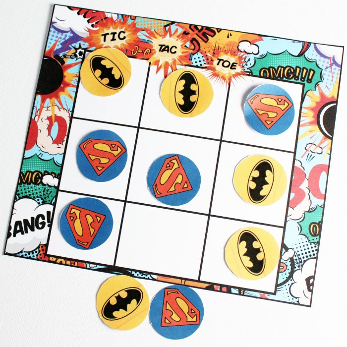 Superhero Tic Tac Toe