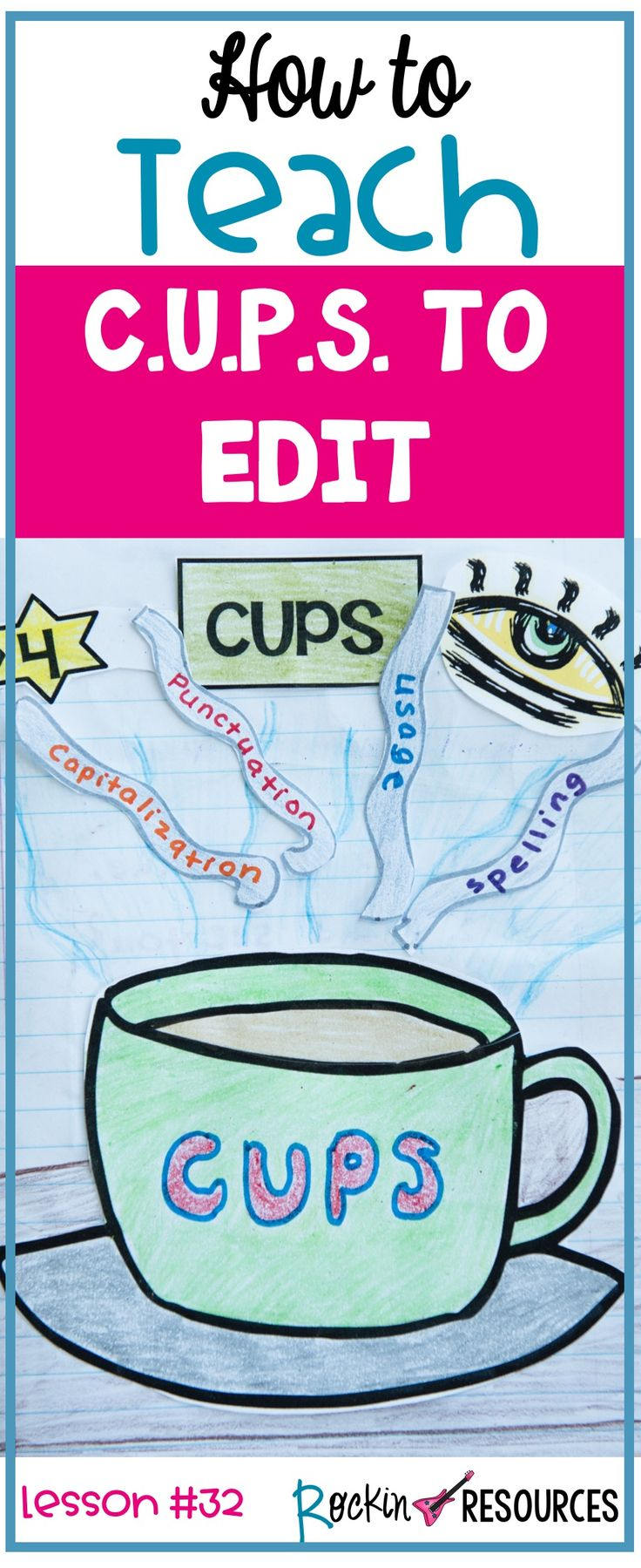 If you are looking for ideas in the editing step of the writing process, you are in the right place! This post will provide ways to teach and break down different editing techniques. Although it is part of a series of 30+ writing mini lessons on narrative writing, it can also be used in other types of writing like opinion writing and informative writing.