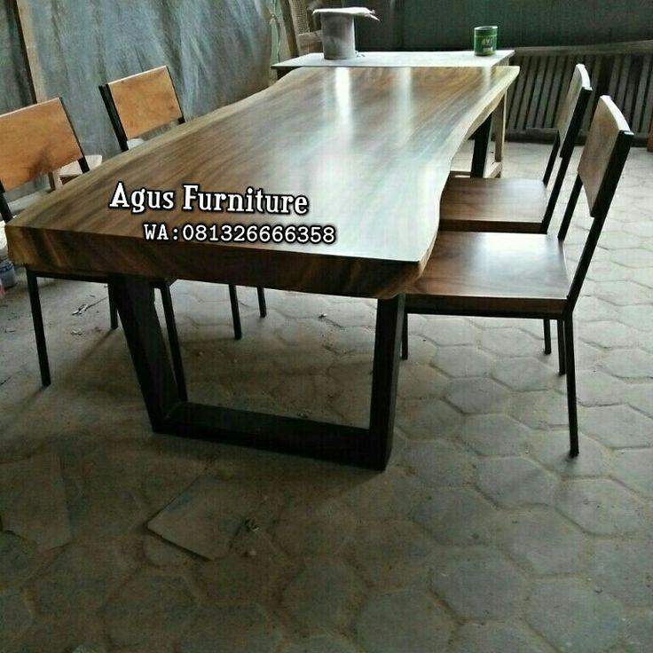 Furniture suar jepara Jual meja suar Produk meja makan suar Brand agus furniture  call 081326666358