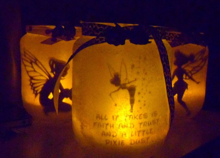 Trapped fairy in a jar night light, all it takes is faith hope & pixie dust