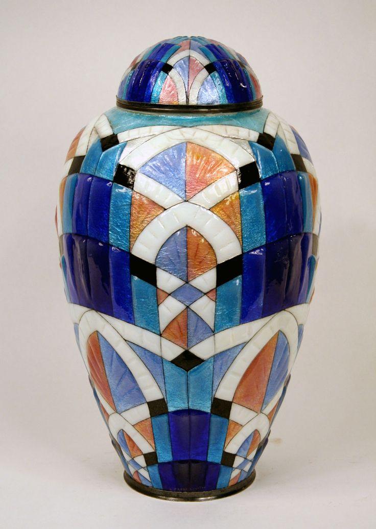 Art Deco vase by Camille Faure Paris 1930