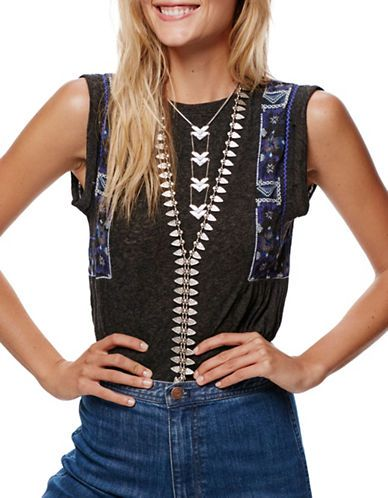 Women | New Arrivals  | Marcy Embroidered Tank | Hudson's Bay