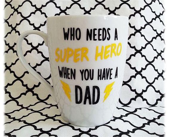 DAD Mug Father's Day Mug Fathers Day Gift Dad by LoveInTheCityShop