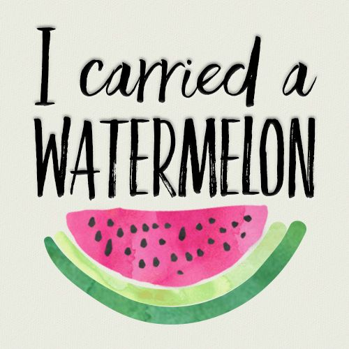 I carried a watermelon - Dirty Dancing quote. Follow us for more fun quotes and designs!