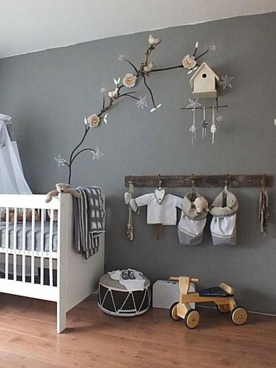 Chic and poetic grey nursery