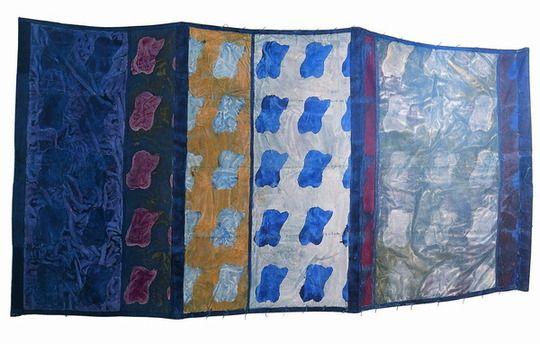 Le tissu dans l'art contemporain Claude_viallat_1979