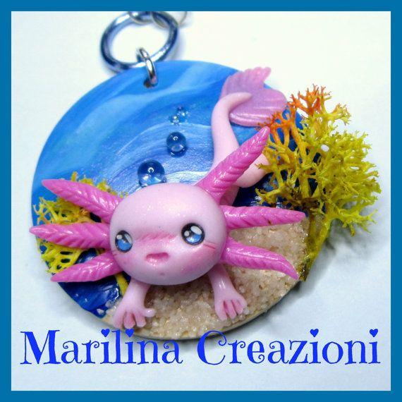 Cameo Kawaii Axolotl