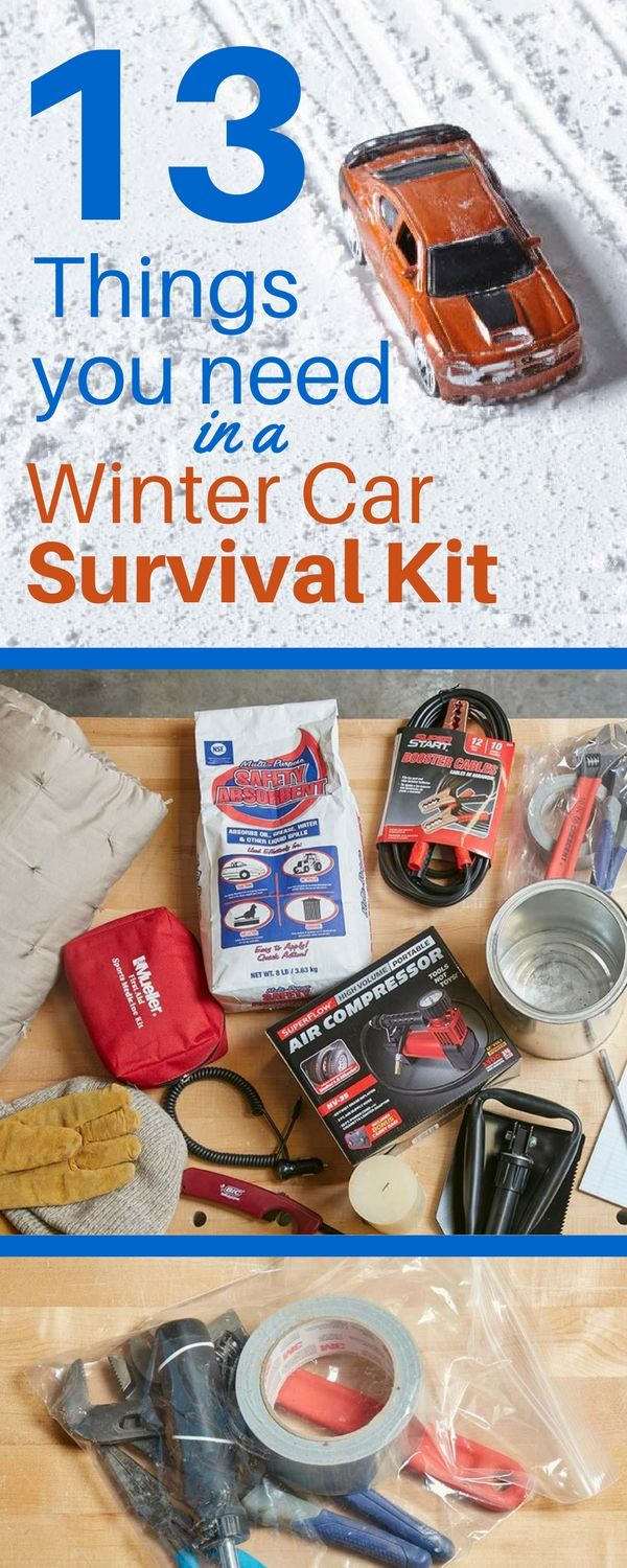 Don't get stranded out in the cold – make your own winter car survival kit.